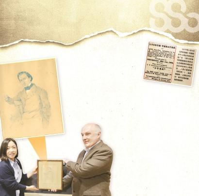 """上海交响音乐博物馆收到一幅171年前的人物素描-上交首位指挥雷穆萨""""露真容"""""""