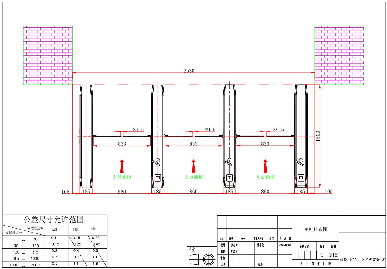 汉口路266号申大厦大堂 闸机系统设备采购和安装工程