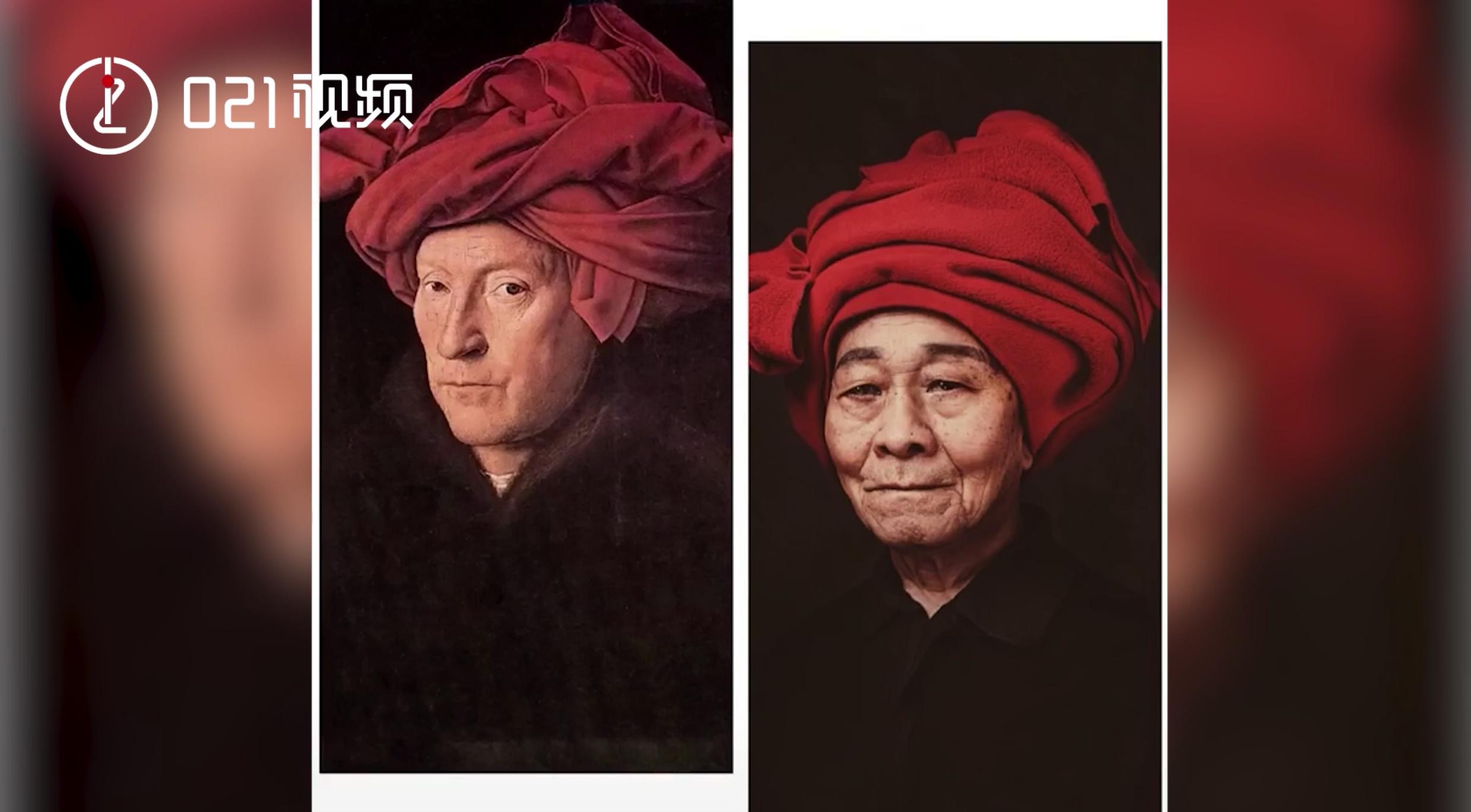 爷爷奶奶比你会玩系列!戏精老人cos世界名画,85岁阿婆感叹:好久没化妆了
